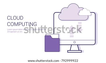 Cloud Computing Service Online Database Business Stock Vector ...