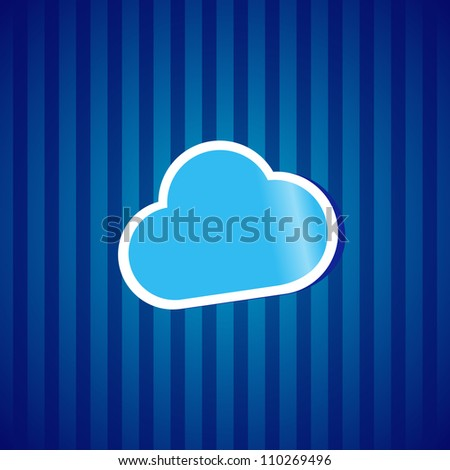 Cloud computing sticker icon concept vector illustration