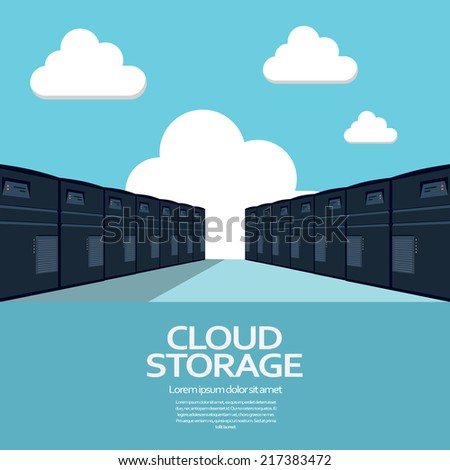 Cloud computing storage concept with devices.. Eps10 vector illustration - stock vector
