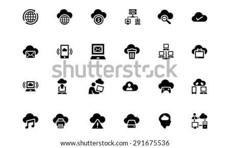 Cloud Computing Vector Icons  - stock vector