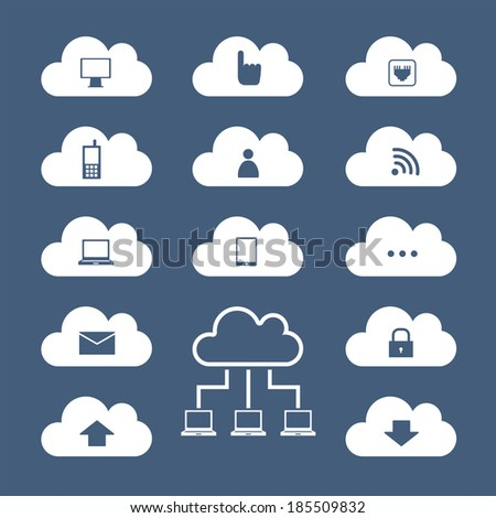 Cloud computing. Vector illustration. - stock vector