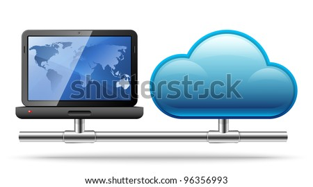 Cloud Computing. Vector Illustration - stock vector