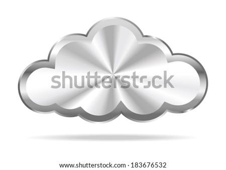 Cloud Computing - Virtual Cloud Icon - stock vector