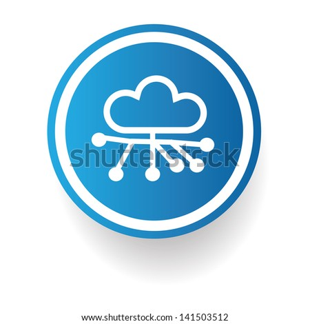 Cloud connection,vector - stock vector