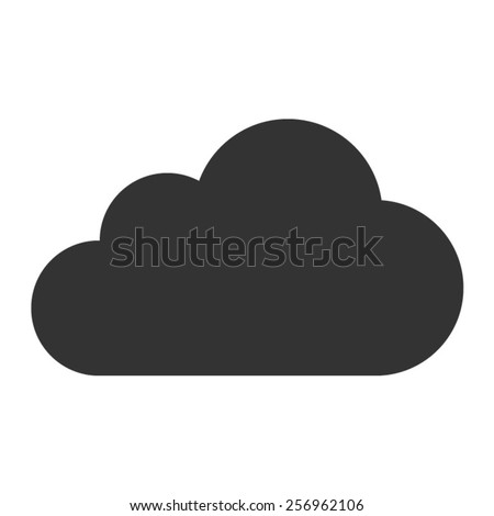 Cloud drive storage flat icon for apps and websites - stock vector