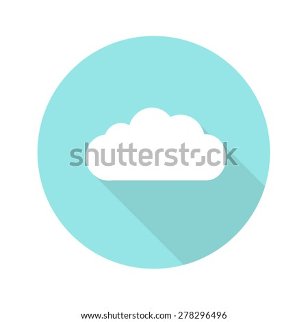 cloud flat icon. vector illustration - stock vector