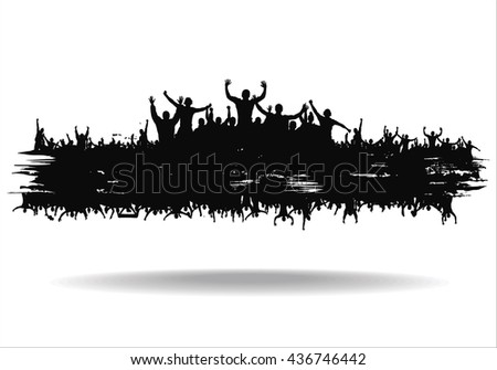 Cloud from the crowd  - stock vector