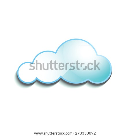 Cloud glossy icon. Vector illustration - stock vector