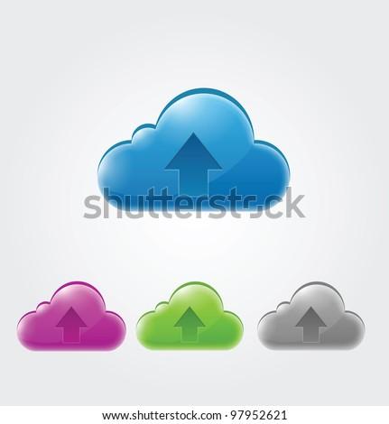 Cloud Icon - stock vector