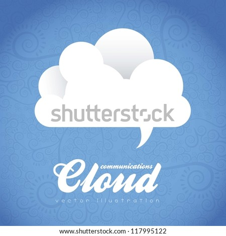 Cloud Icon. Cloud Internet, telecommunications and networks, vector illustration - stock vector