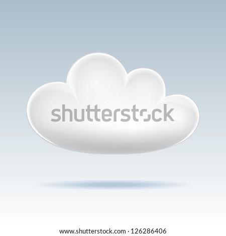 Cloud icon. Vector illustration - stock vector