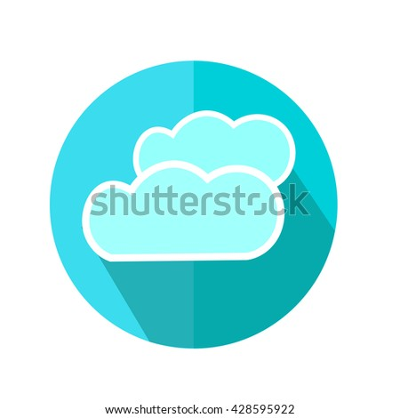 Cloud Icon. Weather Forecast. Vector Illustration.