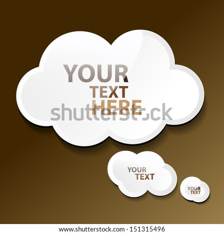 Cloud Icons Set - Isolated On Background - Vector Illustration, Graphic Design, Editable For Your Design. Eps 10  - stock vector