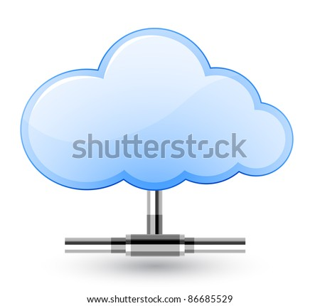 Cloud network connection. Vector Illustration - stock vector