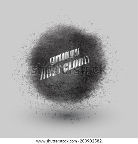 cloud of dust / vector design - stock vector