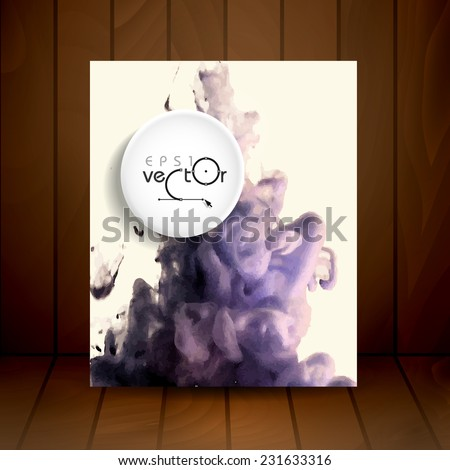 Cloud of Ink In Water. Vector Illustration. Eps 10 - stock vector