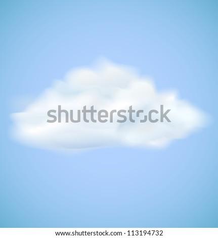 Cloud on blue sky. Vector illustration - stock vector