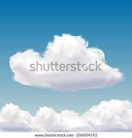 cloud on natural blue sky - stock vector