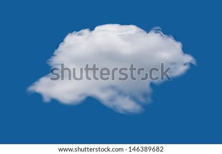Cloud on the blue sky. Vector illustration - stock vector