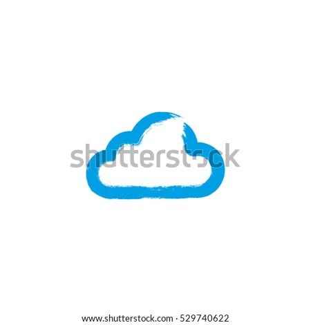 cloud paintbrush grunge vector stock vector 529740622 shutterstock