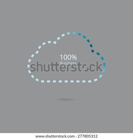 Cloud 100 percent business - stock vector