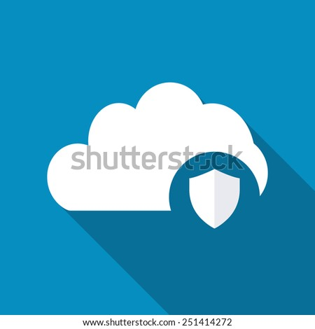 Cloud Protection Icon - stock vector