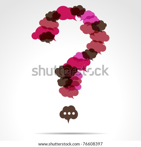 Cloud question mark - stock vector