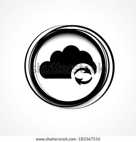 Cloud refresh | update icon - stock vector