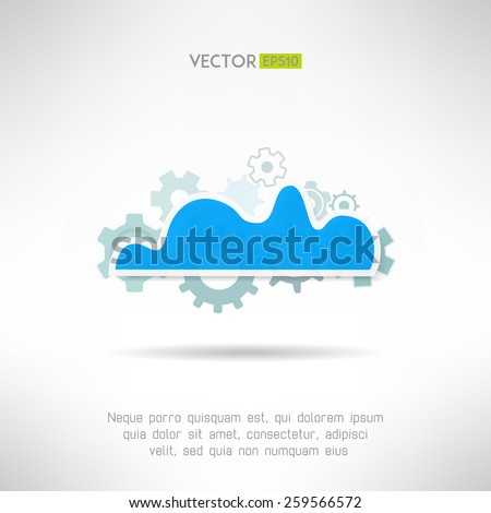 Cloud service icon. Network technology in progress. Remote storage concept. Vector illustration - stock vector