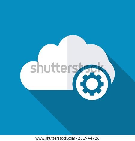 Cloud settings icon - stock vector