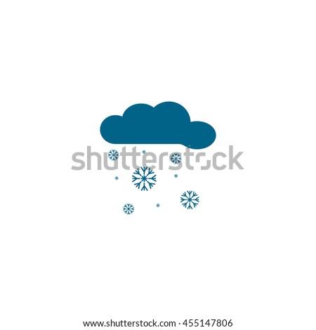 cloud, snowflakes, icon - stock vector