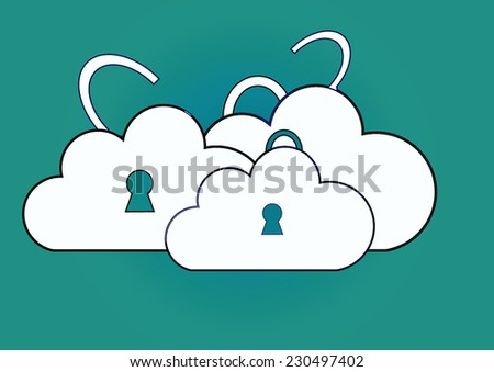 cloud storage, icon  vector illustration