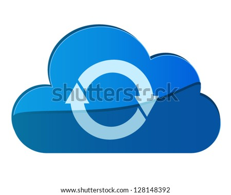 Cloud Sync Icon/logo on transparent background
