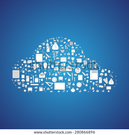 Cloud technology - stock vector