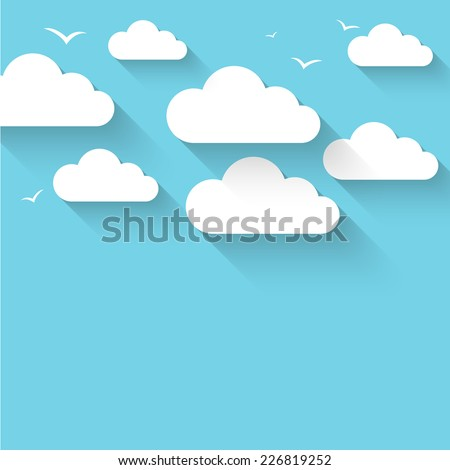 Cloud theme vector background. Eps 10 - stock vector