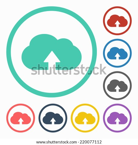 cloud upload icon - stock vector