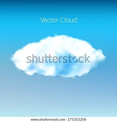 cloud vector background - stock vector