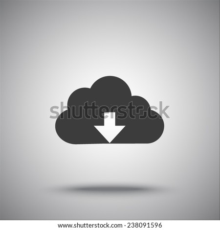 cloud vector icon - stock vector