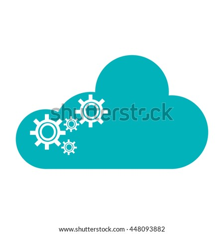 cloud with gears icon