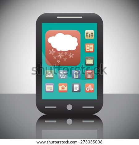 cloud with snowflake weather vector icon