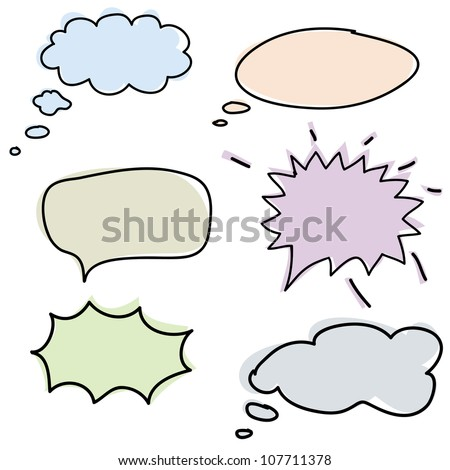 clouds for the speech, the vector