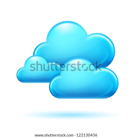 Clouds. Illustration on white background for design