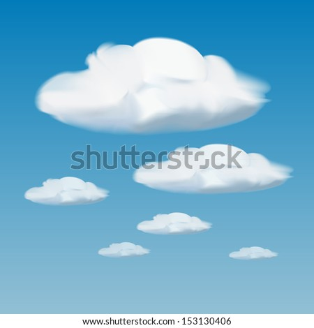 Clouds on blue sky - stock vector