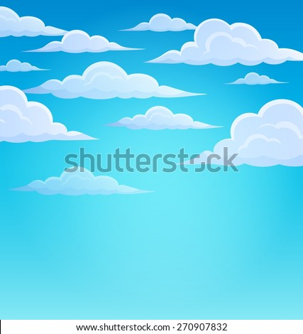 Clouds on sky theme 1 - eps10 vector illustration. - stock vector