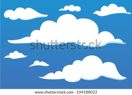 clouds on the sky one side - stock vector