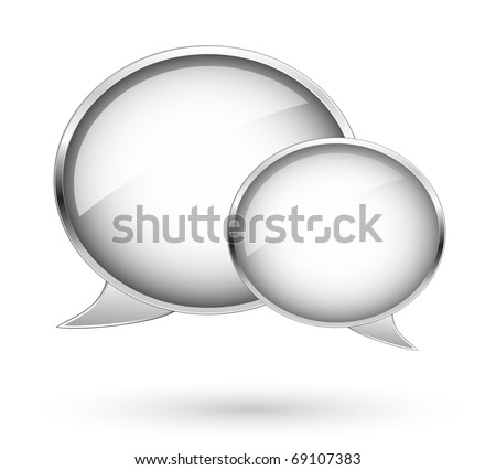 Clouds, tags and bubbles for website. Dialog bubbles - stock vector