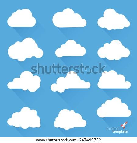 Clouds. Vector design elements set. - stock vector