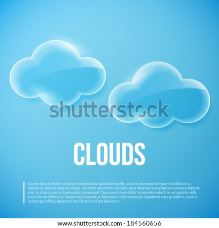 Clouds vector illustration.