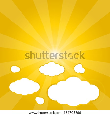 Clouds Yellow Background