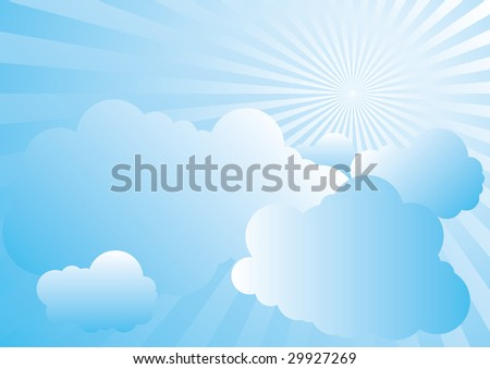 Cloudy Day - stock vector